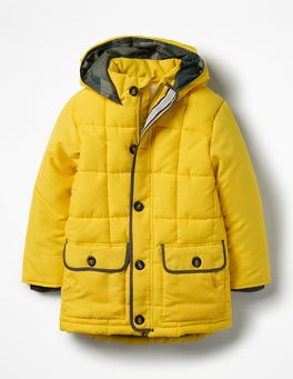 Wasp Yellow Quilted Parka
