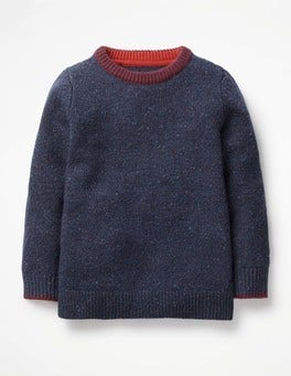 Navy Marl Donegal Donegal Crew Jumper