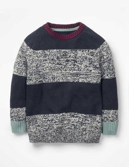 Stripy Raglan Crew Sweater