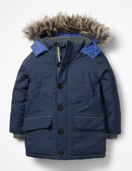 School Navy Waterproof Parka