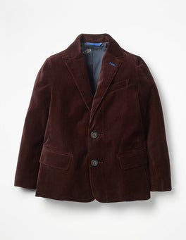 Regal Red Velvet Party Blazer