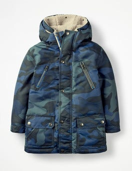 Midnight Navy Camouflage Three-in-one Anorak