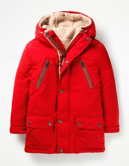 Post Box Red Three-in-one Anorak