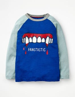 Orion Blue Fangtastic Halloween Raglan T-shirt
