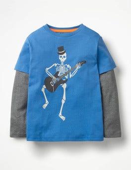 Daphne Blue Skeleton Glowing Halloween T-shirt