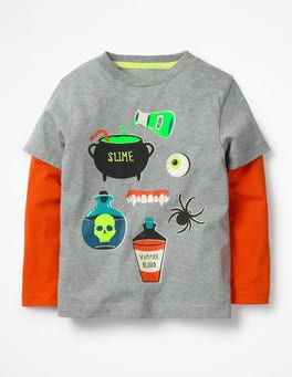 Grey Marl Potions Glowing Halloween T-shirt