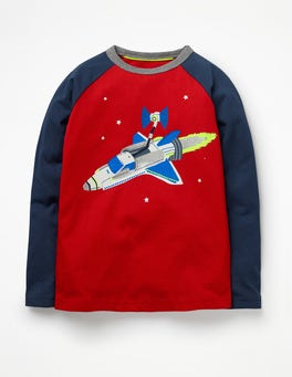 Post Box Red Shuttle Outer Space Raglan T-shirt