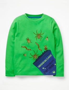 Crayon Green Critters Terrible Treats T-shirt
