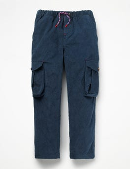 College Blue Cord Utility Cargo Pants