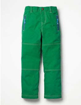 Watercress Green Lined Skate Trousers