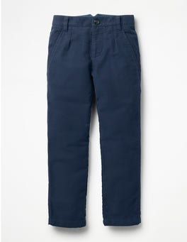 School Navy Moleskin Smart Pants