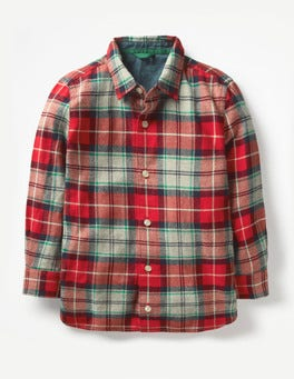 Salsa Red/Watercress Green Brushed Check Shirt