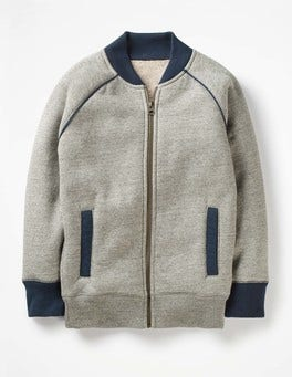Grey Marl Jaspé Shaggy-lined Jacket