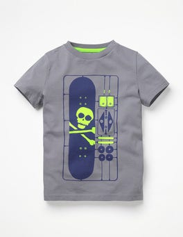 Raft Grey DIY Skateboard Games T-shirt