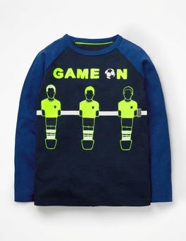 School Navy Game On Graphic Pop T-shirt