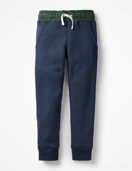 School Navy Shaggy-lined Joggers
