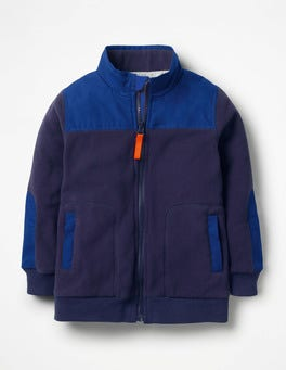 Ultramarine Blue Fleece Zip-Through