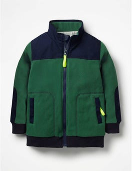 Scots Pine Green Fleece Zip-Through