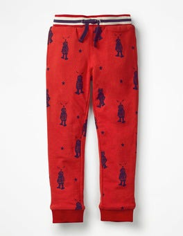 Post Box Red Robots Cosy Lined Joggers