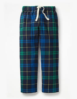Watercress Green/Daphne Check Brushed Pull-on Bottoms