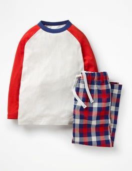 Starboard/Postbox Red Check Pyjama Set
