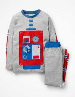 Grey Marl Robot Out-Of-This-World Pyjamas
