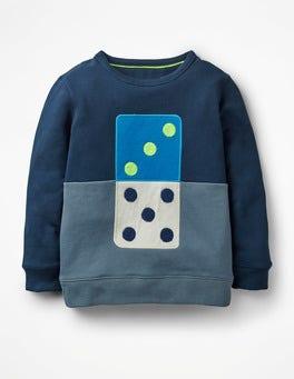 School Navy Domino Domino Sweatshirt