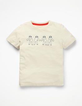 Ecru Flossing Sloth Dance T-shirt