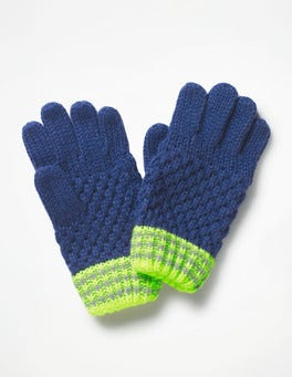 Starboard Blue Textured Gloves