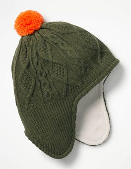 Cucumber Green Fleece-lined Hat