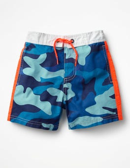 Aqua Blue Camo Poolside Shorts