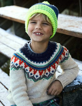 Chunky Fair Isle Crew Sweater