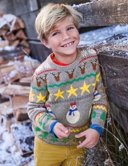 Festive Fair Isle Crew Sweater
