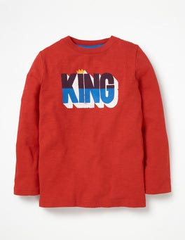 Post Box Red King Printed Festive T-shirt