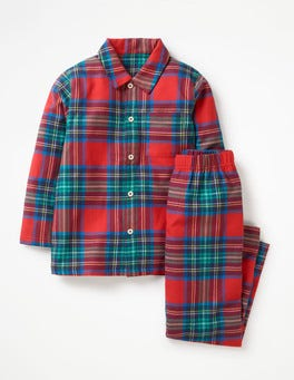 Salsa Red Check Woven Pyjama Set