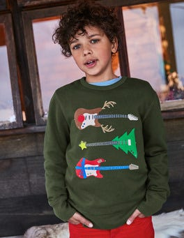 Festive Graphic Sweatshirt