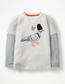 Ecru Pigeon British Animal T-shirt