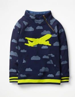 Raglan Zip Popover Sweatshirt