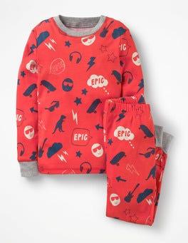 Beam Red Emoji Glow-in-the-dark Long Pyjamas