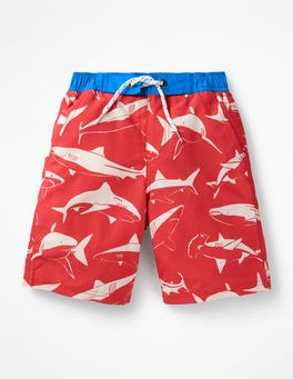 Washed Red Sharks Board Shorts