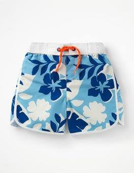 Blue Painted Hawaiian Surf Shorts