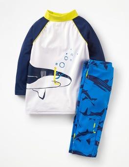 Duke Blue Snorkling Sharks Surf Suit