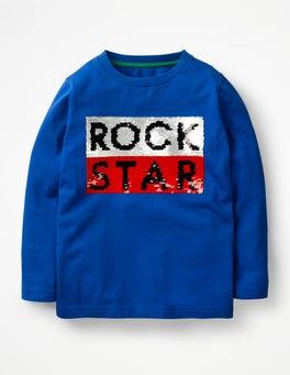 Orion Blue Rock Star Superstar Sequin T-shirt