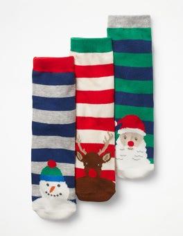 3 paires de chaussettes festives