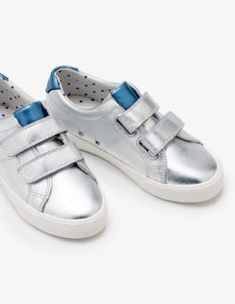 Silver Metallic Fun Low Tops