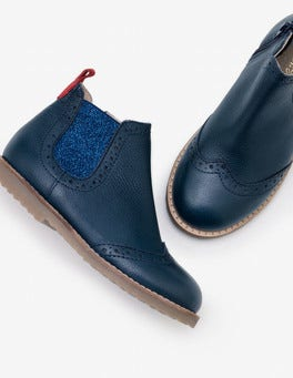 5e8050cede2 Navy Leather Chelsea Boots