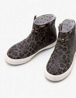 Mouse Brown Leopard Mouse Suede Boots