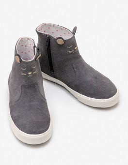 Dove Grey Mouse Suede Boots