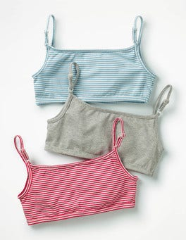 Multi Stripes 3 Pack Crop Tops