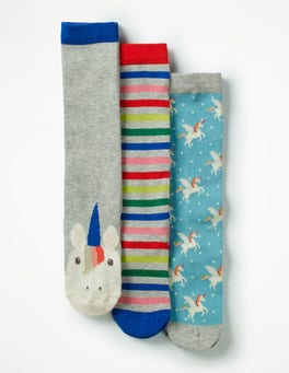 Unicorns 3 Pack Knee-high Socks